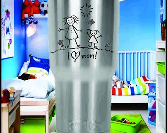 Childs Artwork - Laser Engraved Yeti or RTIC Tumblers.