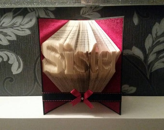 Sister - Folded Book Art