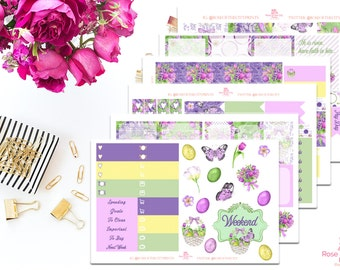 Easter Blessings Sticker Kit   Erin Condren