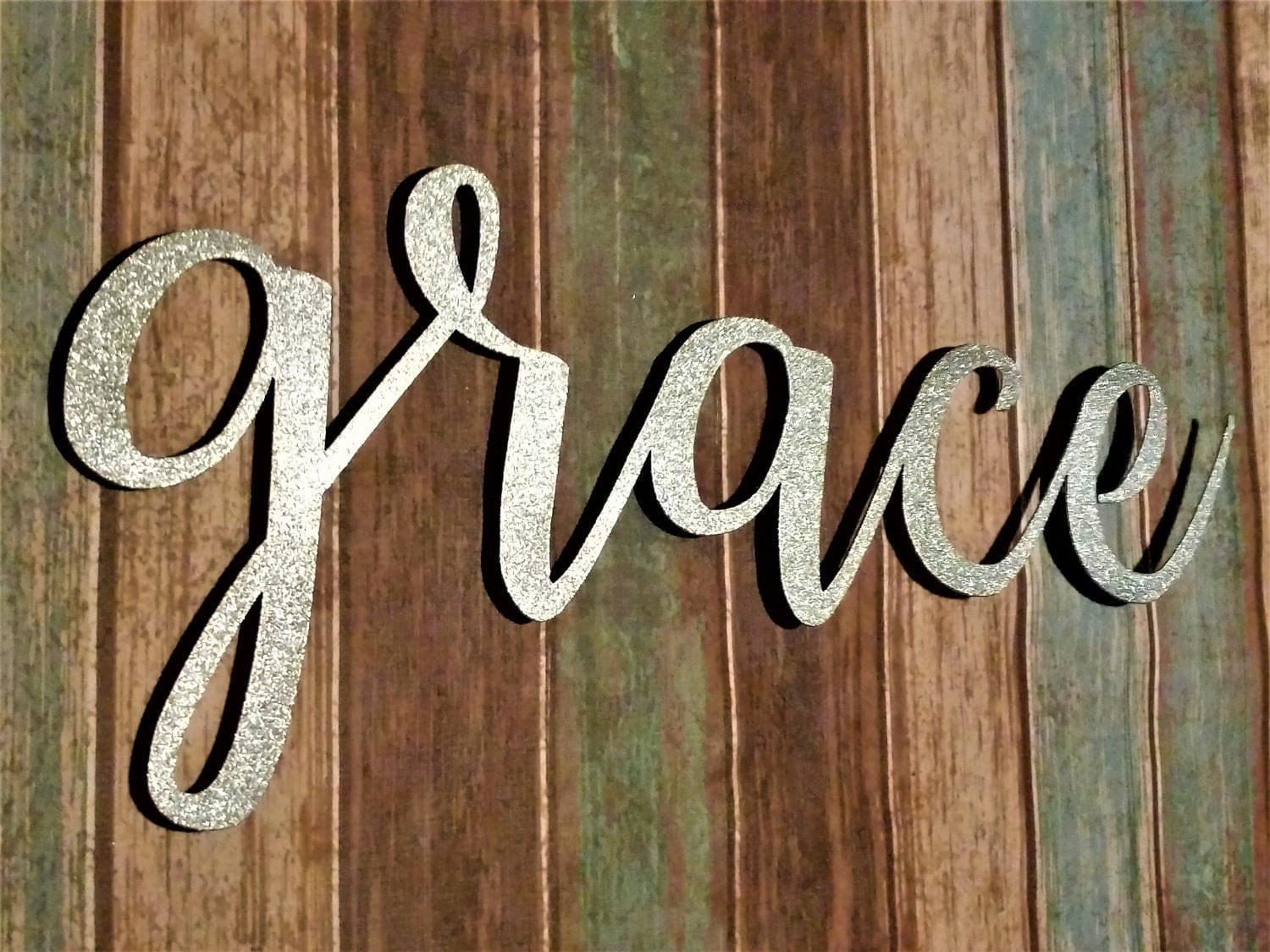 Grace Sign, Farmhouse Wall Decor, Grace Wall Art, Rustic Word Sign ...
