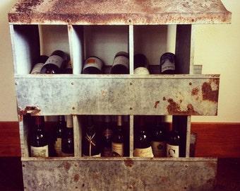 Chicken coop wine rack