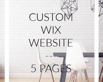 Custom web site on WIX - online shop of 5 pages for your business and web site design