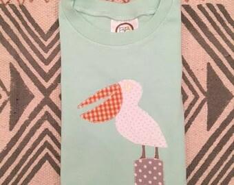 Precious Pelican applique shirt