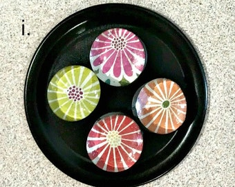 Glass Gem Magnet, Colorful Magnets, Refrigerator Magnets, Pattern Magnets, Bright Magnets, Office Magnets, Dorm Decor, Teacher Gift