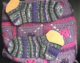 Womens hand knitted ankle socks made to order