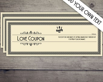 Coupon Book, Coupon Template, Love Coupon, Date Night Coupon, Love Coupons, Love Coupon Book,Love Coupons for Him,Boyfriend,DIGITAL DOWNLOAD
