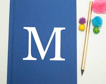 Personalised Monogram Notebook - Alphabet Notebook - Stationary Fabric Notebook - Bridesmaid Notes - Sketchbook Initial - Letterpress