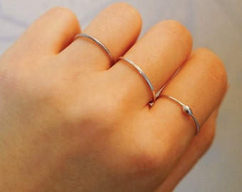 925 Sterling silver ring, simple ring, skinny rings, thin rings, twist ring, layered ring, daily ring, skinny ring, layered rings, drop ring