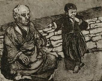 Pilgrim and child