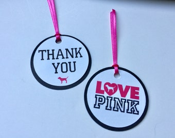 Victoria's Secret Inspired Pink Thank You Tags