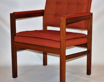 Refinished Black Walnut Lounge armchair