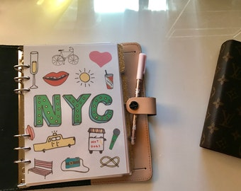 New York City Graphic Planner Dashboard // Personal or A5