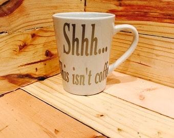 Shhh...This isn't coffee