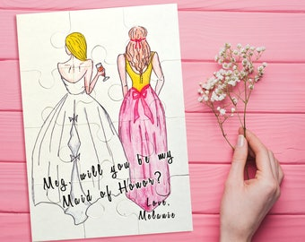 Maid of Honor Proposal Puzzle, Will You Be My Maid of Honor, Matron of Honor Proposal Puzzle, Will You Be My Bridesmaid Puzzle Jigsaw