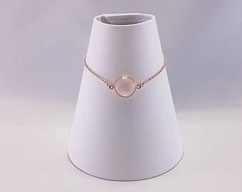 925 Sterling Silver Rose Gold Plated Slider Bracelet