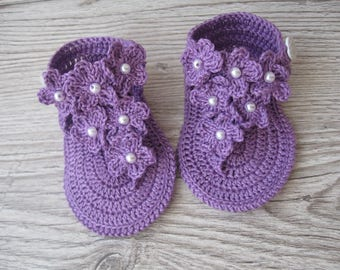 Crochet baby sandals, Crochet sandals, Baby summer sandals, crochet flip flops, baby flip flops, baby sandals, crochet baby shoes