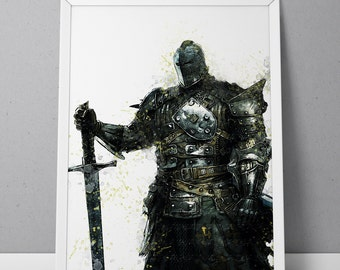 For Honor print, Knight print, For Honor poster, Knight poster, The Legions game poster,  N.002