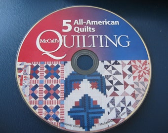 McCall's American quilts 5 patterns quilting CD Quilting Supplies Quilt Patterns Free Shipping