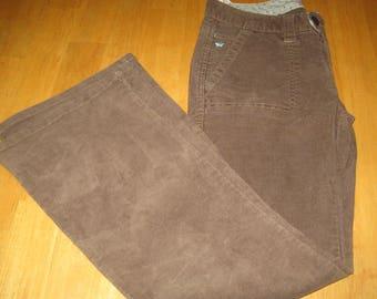 ship free corduroy pants  brown aeropostale size 3/4 s  juniors