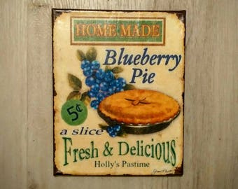 Kitchen country canvas blueberry pie