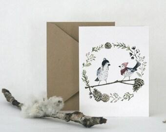HOLIDAY BIRDS  |  Greeting Card
