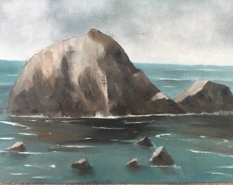 Sea Rocks original oil painting on canvas, seascape,ocean art