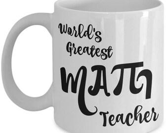 Math Teacher Mug Gifts - Teacher Appreciation Gift - Men, Women, Coworkers - Retired High School Teachers - End of Year Gift, Christmas Mugs