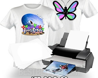 "Neenah Jet Pro II Inkjet Heat Transfer Paper - Iron On Transfer Paper for Light Colors -8.5 X 11"" Sheets-  FREE SHIPPING!"