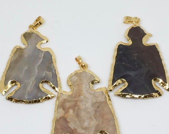 Large Jasper Crow Pendant