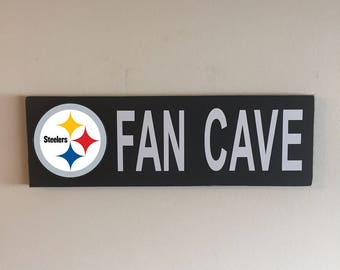 Pittsburgh Steelers Fan Cave Wood Sign / Pittsburgh Steelers Wood Sign / Pittsburgh Steelers Fan Sign / Pittsburgh Steelers Decor