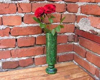 Vintage Catalin Vase Old Green Bakelite Vase Lava Flow Home Decor