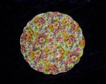 "Vintage James Kent ""Dubarry"" CHINTZ plate - 8"""