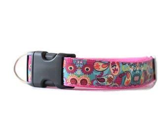 Girl dog collar, Dog collar, Adjustable Dog collar, Honden halsband, Medium dog collar, Large dog collar, Purple dog collar, Gift for dogs