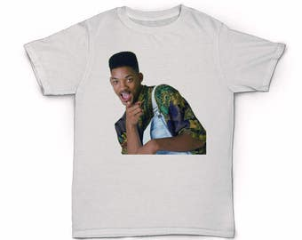 Will Smith T-shirt - Fresh Prince Of Bel-Air - 90's fashion - 80s hip hop rap old school DJ Jazzy Jeff Carlton dance overalls