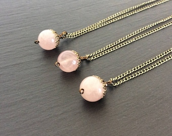 rose quartz necklace, rose quartz jewelry, rose quartz pendant, rose quartz stone, crystal necklace, necklace, rose quartz, pink necklace