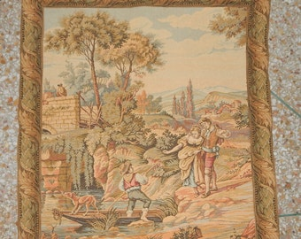 Vintage French Beautiful Tapestry 0155