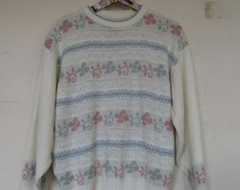 White Patterned Jumper - 10-12