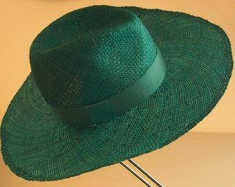 Straw Hat Cowbyhut turquoise