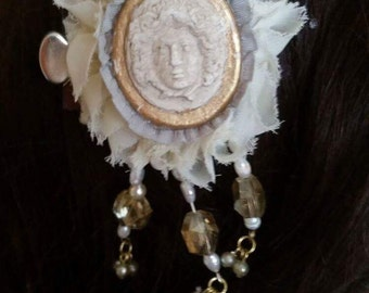 Neoclassical Greek God Hair Clip ,Wedding / Prom