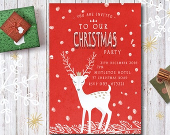 Christmas Party Invitation Printable and Customizable