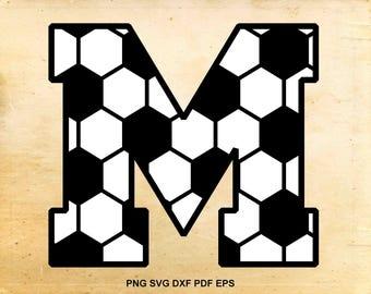 Soccer font svg, Monogram font, Alphabet svg, Soccer svg, Monogram alphabet, Cut files for Cricut, Files for Silhouette, eps png dxf pdf svg