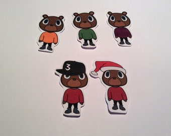 Kanye West Bear PAPER Stickers