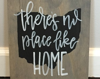 There's No Place Like Home (Ohio) Sign