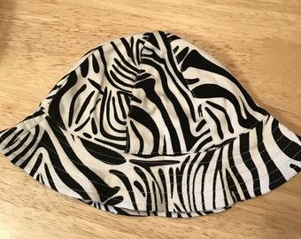 Zebra Print Sun Hat