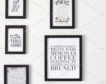Styled Stock Photo | Simple Gallery Wall | Blog stock photo, stock image, stock photography, blog photography