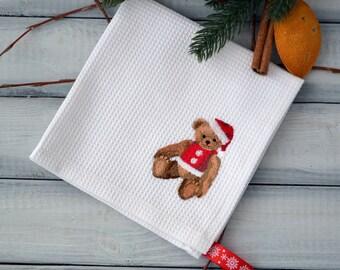 Kitchen Towel - Hand Towel - Embroidered Towel - Christmas towel - Christmas decor