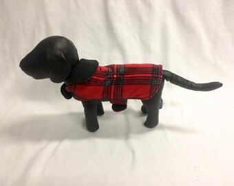 Red/Black Plaid 3 Dog Coat 1014