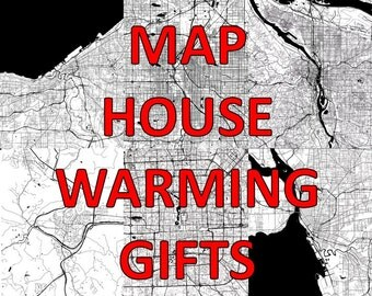 Housewarming Gift, New Home Gift, Personalized Gift, House Warming Decorations, House Map Art, Housewarming Gift For Men, Housewarming Map