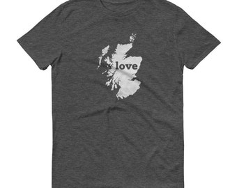 Scotland, Scottish Clothing, Scotland Shirt, Scottish T Shirt, Scotland TShirt, Scotland Map, Scottish Gifts, Made in Scotland, Love Shirt