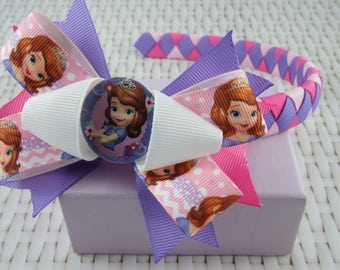 Woven Headband Inc Boutique Bow - Sofia the First